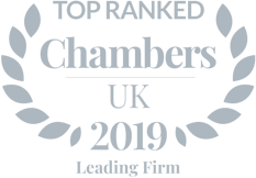 Top Ranked Chambers & Partners 2019